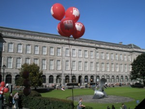 PES balloons at the Trinity college
